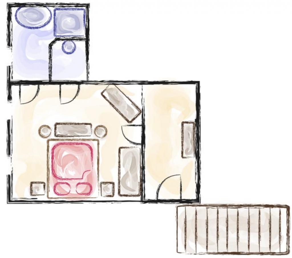 Romantikzimmer Raumplan