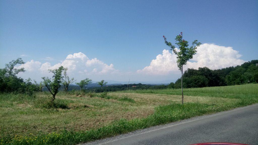 Urlaub im steirischen Vulkanland, Blick in die Hügellandschaft