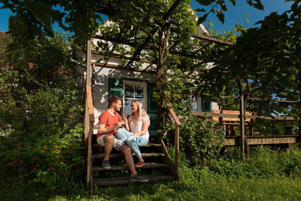 Sonnenterrasse: entspannen und genießen Urlaub zu zweit am Lindenhof